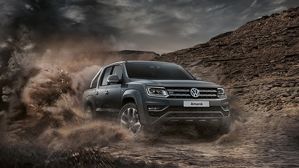 Ready for the rough stuff. The Amarok has an intelligent 'off-road' button that sets up the vehicle for off-road driving. The off-road functions activated include Hill Descent Control, and recalibrated ABS settings that improve performance on dirt, and reduce the stopping distance on loose surfaces.   Anti-spin regulation (ABS/ASR) including Off-road ABS and electronic differential lock (EDL) are standard equipment across the Amarok range.