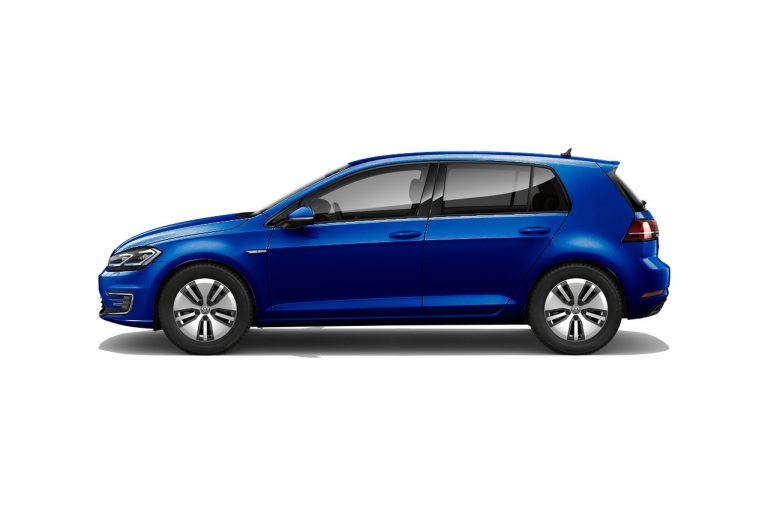 The e-Golf finished in Atlantic Blue