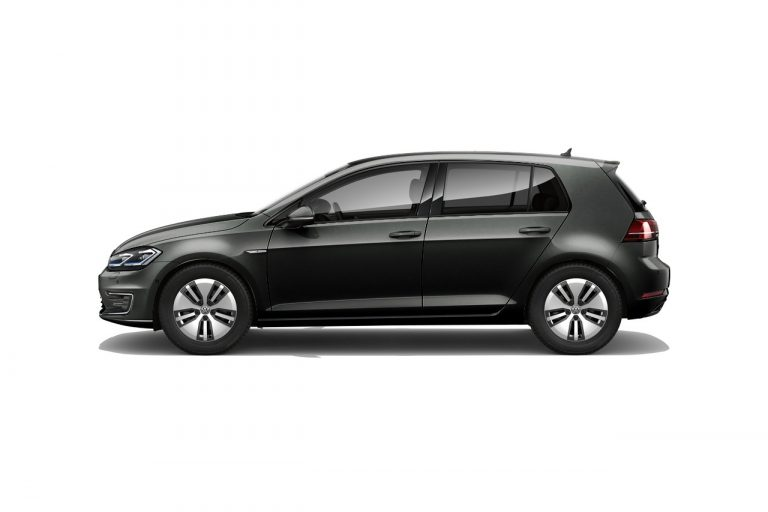 The e-Golf finished in Deep Black Pearlescent