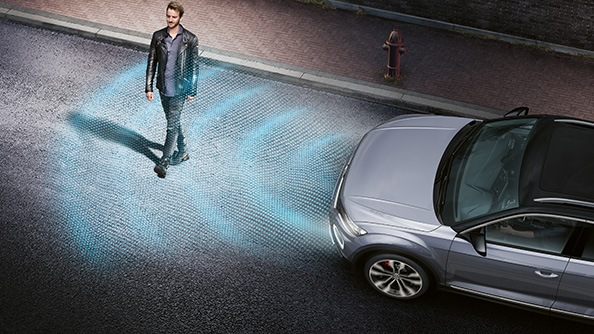 Stay relaxed in busy streets. Do you ever wish you had an assistant that could watch the traffic ahead for you? Make driving more relaxed with the standard Front Assist area monitoring system including Autonomous Emergency Braking and Pedestrian Monitoring function within the system limits.