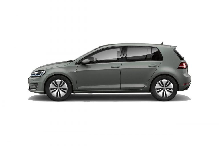 The e-Golf finished in Indium Grey