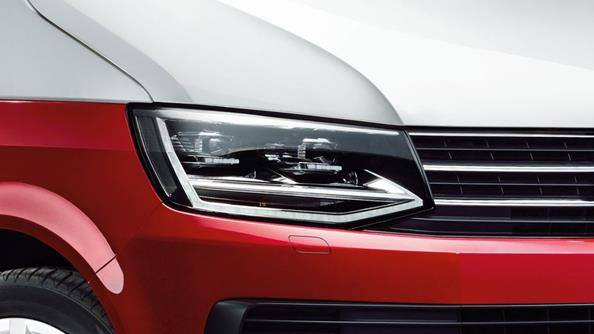 Shine bright. Standard on the Multivan range is the Lights & Vision package which includes daytime running lights and an auto-dimming rear view mirror.  Take your Multivan to the next level by adding LED headlamps with separate LED day time running lights and LED tail lamps (standard on the Multivan Highline).