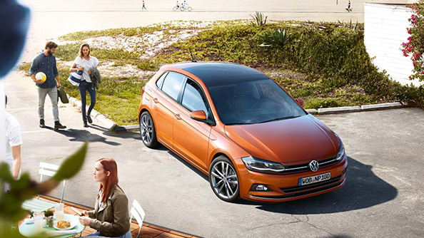 """Its all about the details. Stand out from the crowd with the Polo's new impressive look.  Volkswagen's signature """"Tornado line"""" creates a clear contour that sweeps around this mighty hatch, arching over the front side panels, gliding along the standard four doors and curving around the rear."""