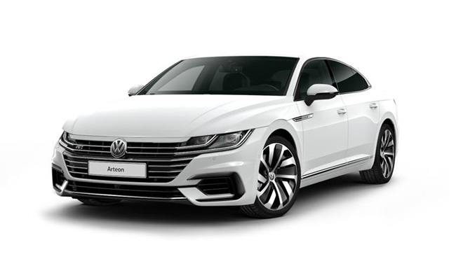 Arteon R-Line finished in Pure White