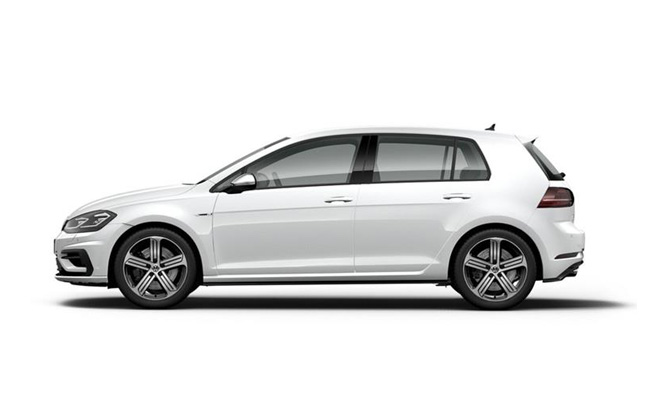 Golf R finished in Pure White