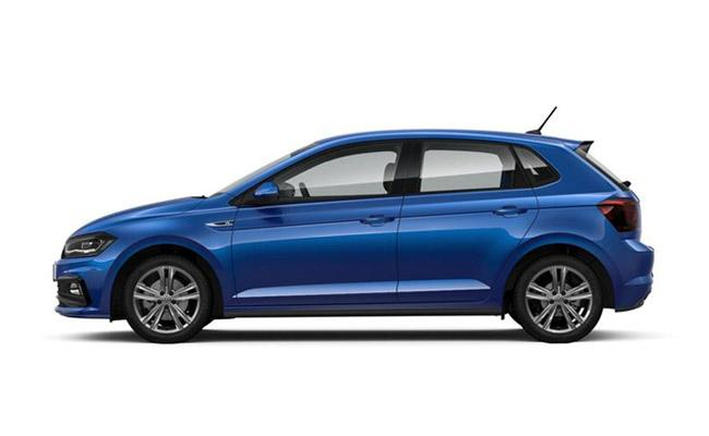 Polo R-Line finished in Reef Blue Metallic