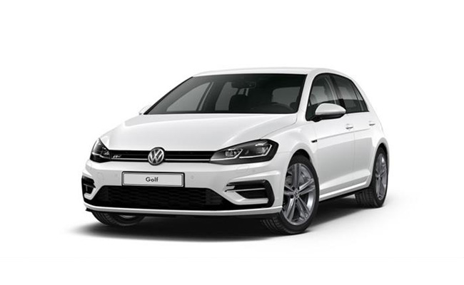 Golf R-Line finished in Oryx White Pearl