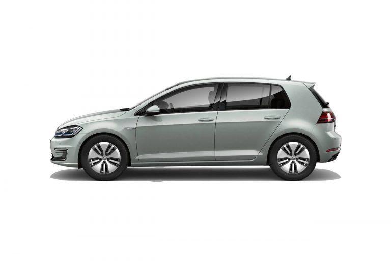 The e-Golf finished in Tungsten Silver