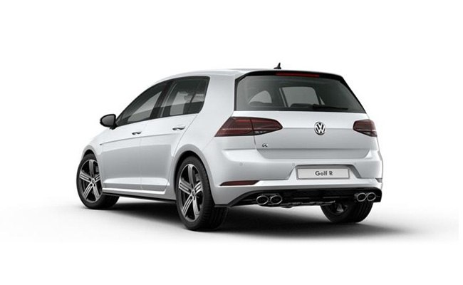 Golf R finished in White Silver Metallic