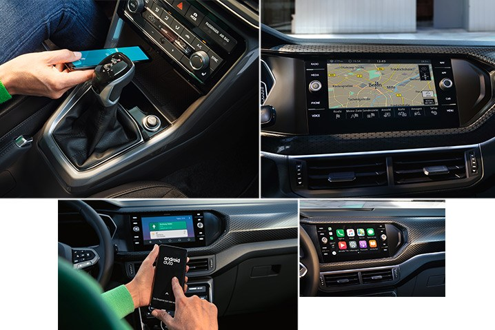 "Stay Connected. Stay connected with the latest generation 8"" infotainment system:  Intuitive operation and fast & easy access to information Wireless charging (standard across the range) App-Connect: Android Auto, Apple CarPlay and MirrorLink (standard across the range) Built-in satellite navigation (standard on Style and R-Line)  *Overseas model shown."