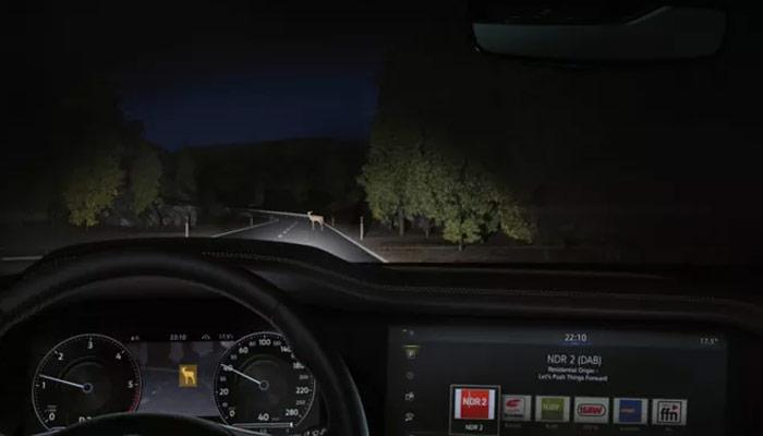 Letting you see what is hiding in the darkness.  You've probably seen night vision systems in spy films. Now you've got one in your car. The beams of the optional night vision system in the Touareg generate a thermal image of your surroundings, including people and animals, in your cockpit.