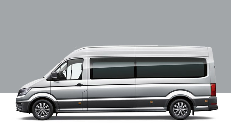 Crafter Mini bus side profile render
