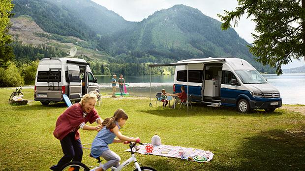 Volkswagen Grand California 600 & 680 family campsite