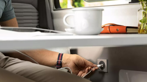 Volkswagen Grand California usb charging in dining area