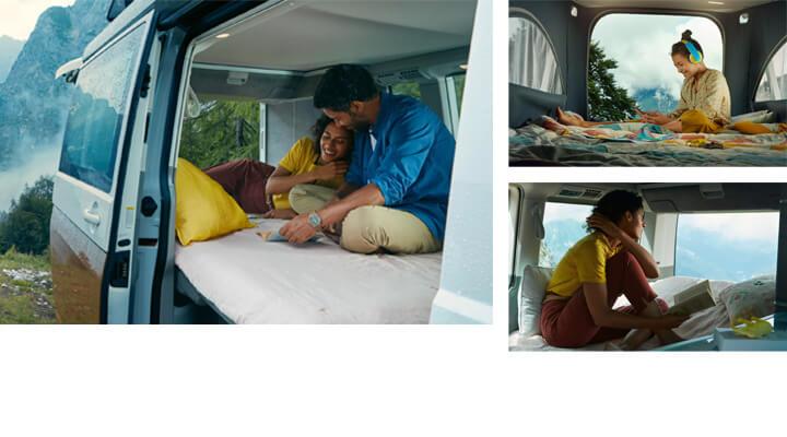 VW California 6.1 multiple sleeping solutions