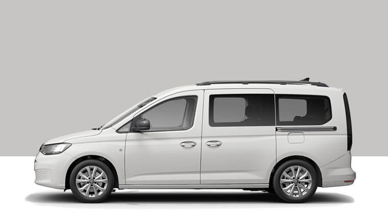 MY21 Caddy life van side profile variant